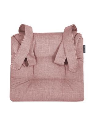 Poduszka na krzesło Dina, 2 szt., Tapicerka: poliester, Brudny różowy, D 42 x S 46 cm