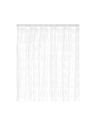 Zasłona prysznicowa Zora, Eko tworzywo sztuczne (PEVA), bez PVC, Transparentny, biały, S 180 x D 200 cm