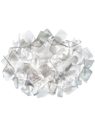 Kinkiet/lampa sufitowa Clizia, Technopolymere Lentiflex®, odbijający światło i Cristalflex®, nietłukący się, elastyczny, Jasny szary, transparentny, Ø 32 x W 15 cm