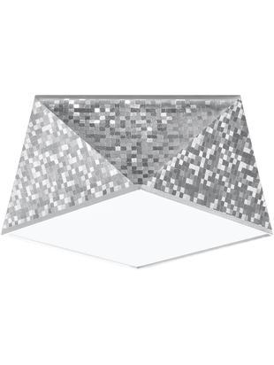 Plafoniera Koma, Materiale sintetico (PVC), Argentato, Ø 30 x Alt. 15 cm