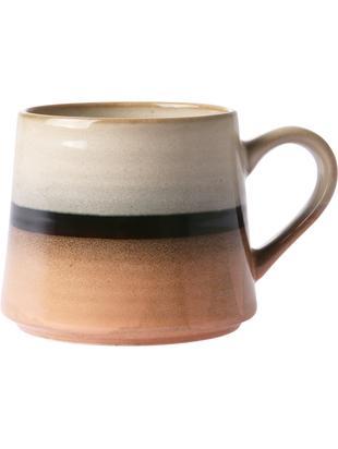 Tazza da tè fatta a mano 70's, Ceramica, Pesca, grigio, nero, Larg. 11 x Alt. 9 cm