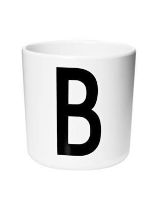 Tazza per bambini Alphabet (varianti dalla A alla Z), Melamina, Bianco, nero, Tazza B