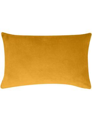 Poszewka na poduszkę z aksamitu Alyson, 100% aksamit bawełniany, Ochrowy, S 30 x D 50 cm