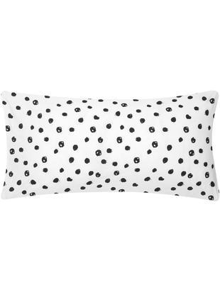 Poszewka na poduszkę z bawełny renforcé Jana, 2 szt., Biały, czarny, S 40 x D 80 cm