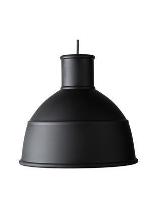 Lampada a sospensione Unfold, Silicone, Nero, Ø 33 x A 30 cm