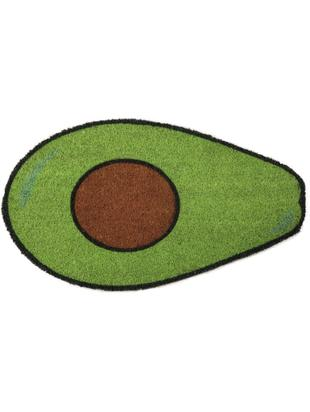 Wycieraczka Avocado, Włókno kokosowe, Zielony, brązowy, czarny, S 40 x D 70 cm