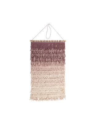 Dekoracja ścienna Nature z bawełny, Odcienie mauve, kremowy, S 40 x W 60 cm