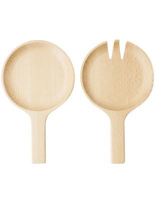 Cubiertos para ensalada de madera de haya Pan, 2pzas., Madera de haya, Madera de haya, An 13 x L 22 cm