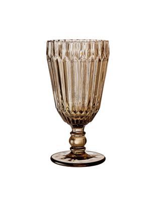 Bicchiere da vino con rilievo Structure 6 pz, Vetro, Marrone, Ø 8 x Alt. 16 cm