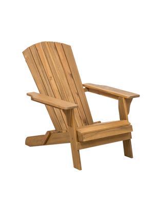 Fotel ogrodowy Charlie, Drewno akacjowe, olejowane, Brązowy, S 93 x G 74 cm