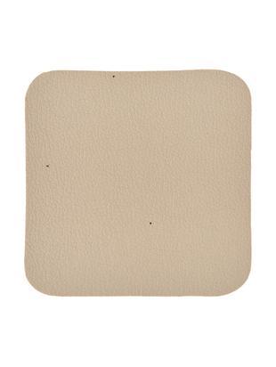 Podstawka z tworzywa sztucznego Pik, 4 szt., Tworzywo sztuczne (PVC) o wyglądzie skóry, Beżowy, S 10 x D 10 cm