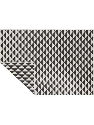 In- & outdoor vloerkleed Tahiti, Polypropyleen, Zwart, crèmekleurig, B 120 x L 170 cm (maat S)