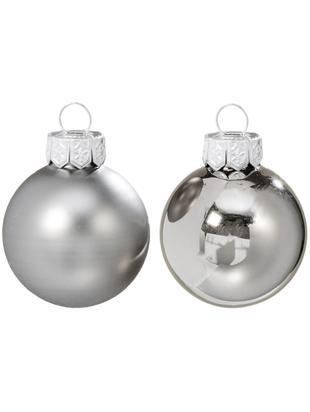 Weihnachtskugel-Set Delyn, 12-tlg., Glas, lackiert, Perlgrau, Ø 8 cm