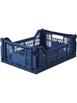 Cesta media pieghevole ed impilabile Navy, Materiale sintetico riciclato, Blu navy, Larg. 40 x Alt. 14 cm