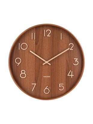 Orologio da parete Pure, Legno, Marrone, beige, Ø 40 cm