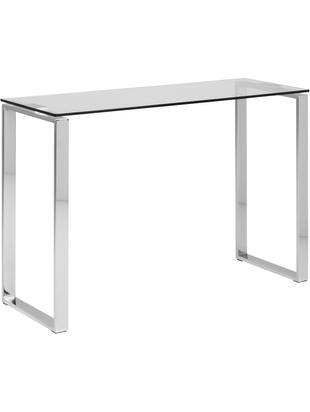 Konsola ze szkła Katrine, Szkło, metal, Transparentny, S 110 x W 76 cm