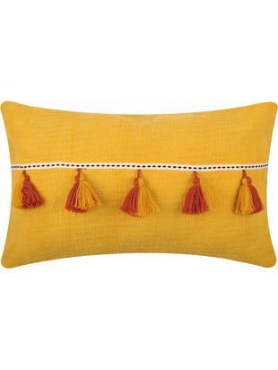 Poduszka z wypełnieniem Majorque, Bawełna, Żółty, czerwony, S 35 x D 55 cm