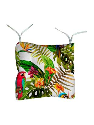 Cojín de asiento Parrot, Funda: fibra acrílica con teflon, Multicolor, An 45 x L 45 cm