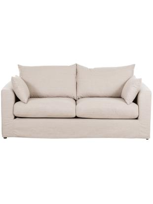 Sofa Zach (2-Sitzer), Bezug: 100% Polypropylen, Webstoff Beige, B 191 x T 90 cm