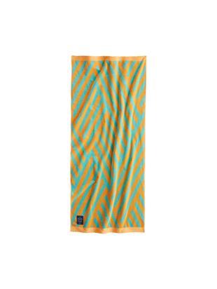 Ręcznik plażowy Bonsall, Bawełna organiczna, certyfikat GOTS, Średnia gramatura, 450 g/m², Pomarańczowy, turkusowy, S 80 x D 180 cm