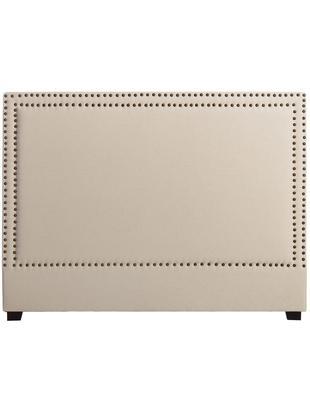 Cabecero Sally, Tapizado: 100%seda de poliéster, Estructura: madera de abedul, eucalip, Crema, An 160 x Al 120 cm