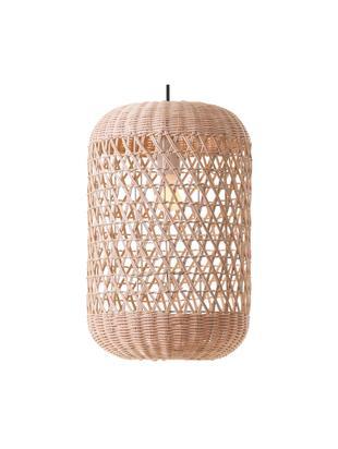 Lampa wisząca z bambusa Aurora, Jasny brązowy, Ø 25 x W 37 cm