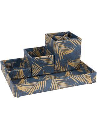 Komplet organizerów biurowych, 4 elem., Tektura laminowana, Odcienie złotego, szaroniebieski, Różne rozmiary