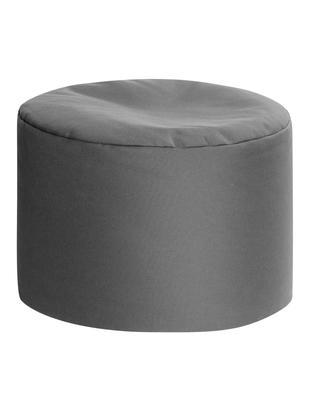Puf wewnętrzny/zewnętrzny Dotcom, Antracytowy, Ø 60 x 40 cm