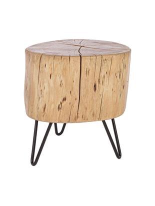 Beistelltisch Arthur aus Akazienholz, Tischplatte: Akazienholz, Füße: Metall, Braun, Schwarz, 35 x 35 cm