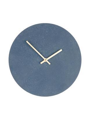 Reloj de pared Paris, Madera contrachapada, Gris, Azul, Ø 30 cm