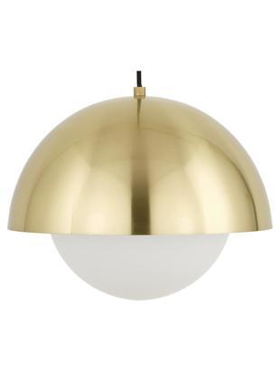 Lampa wisząca Lucille, Mosiądz, biały, Ø 35 x W 30 cm