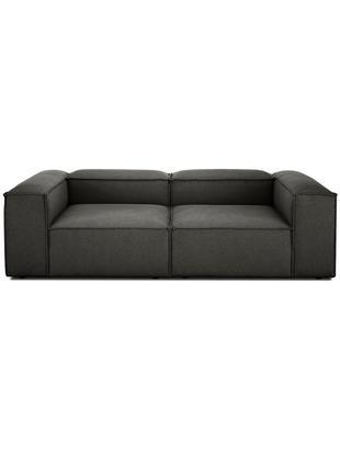 Modulares Sofa Lennon (3-Sitzer), Bezug: Polyester 35.000 Scheuert, Gestell: Massives Kiefernholz, Spe, Füße: Kunststoff, Webstoff Anthrazit, B 238 x T 119 cm