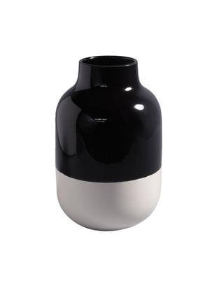 Vaso dipinto a mano Nuno, Terracotta, Nero, bianco, Ø 20 x Alt. 30 cm