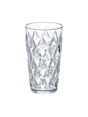 Szklanka do wody z tworzywa sztucznego Crystal, 6 szt., Tworzywo sztuczne SAN, bez BPA, Transparentny, Ø 9 x W 15 cm