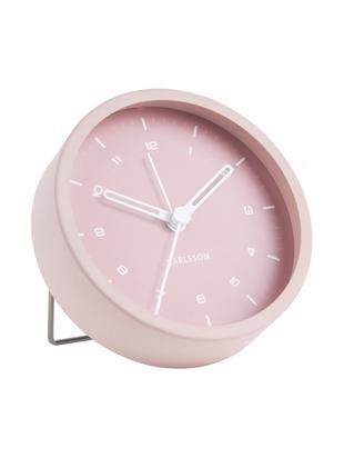 Wekker Tinge, Gelakt staal, Roze, Ø 9 x D 3 cm