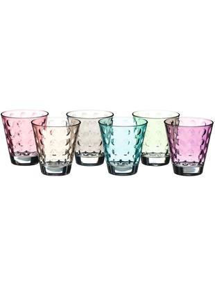 Wassergläser-Set Gunnar in Bunt, 6er-Set, Glas, Mehrfarbig, Ø 9 x H 9 cm