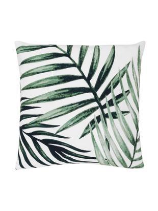 Poszewka na poduszkę Coast, 100% bawełna, Zielony, biały, S 40 x D 40 cm