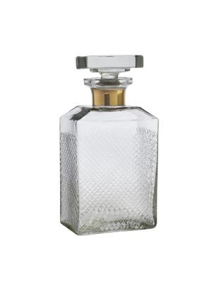 Dekanter Cut, Glas, Transparent<br>Rand: Goldfarben, 11 x 23 cm