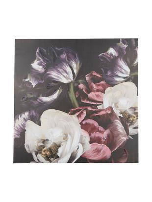 Stampa su tela Blume, Tela stampata digitalmente con cornice di legno (legno di pino) Inchiostro a base acrilica, Multicolore, L 90 x A 90 cm