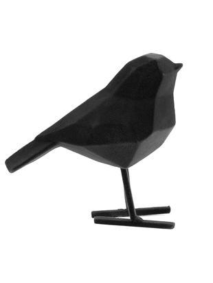 Oggetto decorativo Bird, Poliresina, Nero, Larg. 17 x Alt. 14 cm