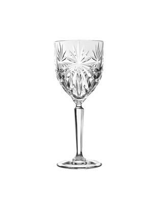Copas de vino blanco de cristal Oasis, 6uds., CristalLuxion, Transparente, Ø 8 x Al 20 cm