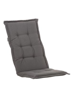 Einfarbige Hochlehner-Stuhlauflage Panama, Bezug: 50% Baumwolle, 50%Polyes, Grau, 50 x 123 cm