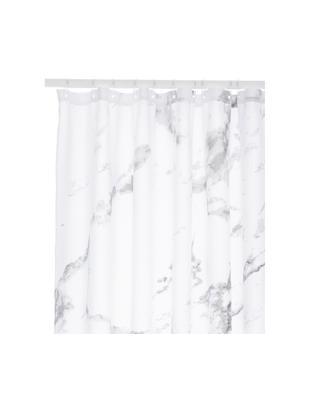 Tenda da doccia Marble, Poliestere, Antracite, bianco, Larg. 180 x Lung. 200 cm
