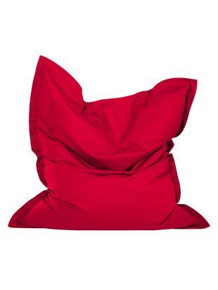 Duży worek do siedzenia Meadow, Tapicerka: poliester powlekany poliu, Czerwony, S 130 x W 160 cm