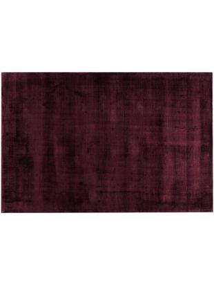 Alfombra de viscosa Jane, Parte superior: 100%viscosa, Reverso: 100%algodón, Borgoña, An 120 x L 180 cm (Tamaño S)