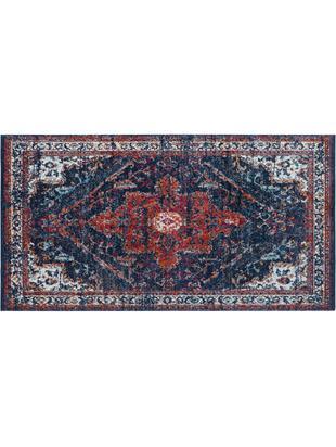 Teppich Azrow im Vintage Style, Flor: Polypropylen, Dunkelblau, Rot, B 80 x L 150 cm (Grösse XS)