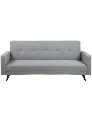 Sofa rozkładana Leconi (3-osobowa), Tapicerka: poliester, Nogi: drewno kauczukowe, lakier, Tapicerka: jasny szary Nogi: ciemnybrązowy, S 217 x G 89 cm