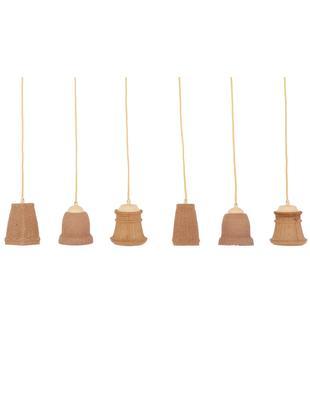 Lámpara de techo Dining Meshwork, Pantalla: madera, material compuest, Fijación: plástico, Anclaje: metal, Cable: cubierto en tela, Marrón, An 101 x Al 138 cm