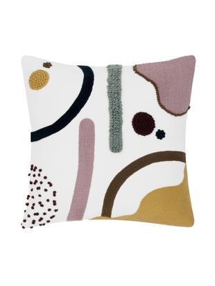 Kissenhülle Wassily mit abstrakter Verzierung, Baumwolle, Vorderseite: Mehrfarbig Rückseite: Weiss, 45 x 45 cm