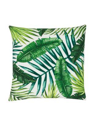 Poszewka na poduszkę Jonna, 100% bawełna, Zielony, kremowobiały, S 40 x D 40 cm